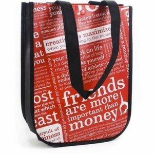 Lululemon Red & White Small Tote